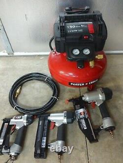 Porter Cable 6 Gallon 150 Psi Pancake Air Compressor Kit Modèle# Pcfp3kit
