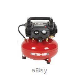 Porter-cable 6 Gallon Pancake Compresseur D'air Et Kit D'accessoires C2002-wk Nouveau