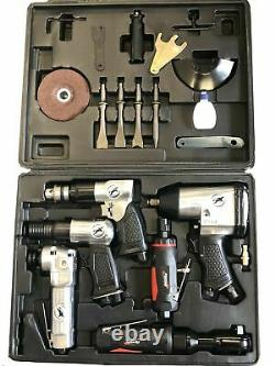 Rdgtools 20pc Air Tool Kit Drill Die Angle Grinder Hammer Ratchet Impact Wrench