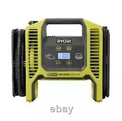 Ryobi P747 18v Gonfleur Portable /déflateur Air Pump Kit W 4ah Batterie P118b Chg
