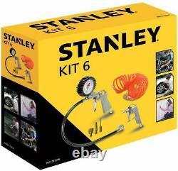 Stanley Dst 100/8/6 Compresseur Silencieux (59db) + Set 6 Stanley
