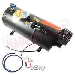 Train Air Horn Kit 4 Trompette Chrome Air Horn, 150 Psi 3 Litres 12v Compresseur D'air