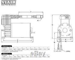 Truck Train Air Horn Viair 275c 150psi Compresseur 2.5gal Kit Pour Voitures, Camions, Etc.