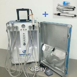 Unité Dentaire Portable Avec Compresseur D'air + Scaler + Light + Durcissement Kit Handpiece
