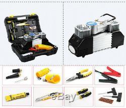 Unité Portable De Voiture Compresseur D'air 50l / Min 150psi Preset La Pression Des Pneus Tool Kit