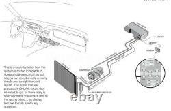 Universal 24v Auto Underdash Ac Kit Evaporator Compresseur Climatiseur 3speed