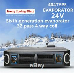 Universal 24v Voiture Dash Sous Air Conditioning Kit 3 Niveaux Compresseur Évaporateur