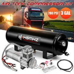 Universal 3gal 200psi Système Compresseur D'air Réservoir De Bord Kit Pour Le Camion Bateau Corne