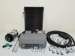 Universal Ac Underdash Climatisation Kit Compresseur Évaporateur Tuyaux Raccords