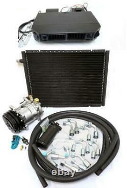 Universal Underdash Air Conditioning Ac Evaporator Kit Hoses Compressor Fittings