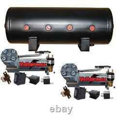 V Dc100 Pewter Compresseurs D'air Double 5 Gal Pièces De Réservoir D'air Presseur
