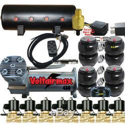 V Z01 Airbagit 480c Compresseur 3 / 8valve Airride 2500 Et 2600 Sacs 7 Switch Box