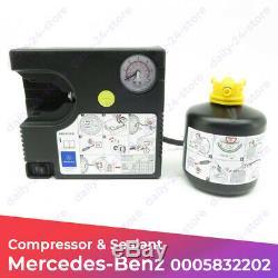 Véritable Mercedes-benz Pompe À Air Des Pneus Compresseur Tirefit 0005832202 Pour Kit Voiture
