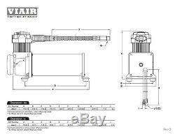 Viair 444c Dual Pack Compresseurs Suspension Air Ride Corne Black Train Lowrider