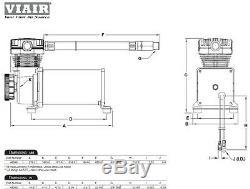 Viair 480 Dual Pack Compresseurs Chrome Suspension Air Bag Off Road Lowrider