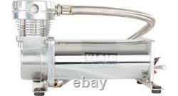 Viair 480c Compresseur Simple Chrome 200 Psi Air Ride Suspension Train Horns 480