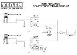 Viair 480c Dual Pack Black Compresseurs Air Ride Suspension Train Horns Off Road