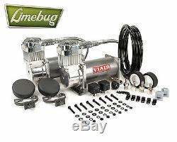 Viair Chrome Double Double 380c Compresseur D'air Kit (200psi) Kit Air Ride 12 Volt