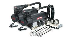 Viair Dual 485c Stealth Black Air Compressors Kit For Train Horns 12v, 200 Psi