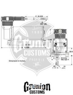 Viair Noir Furtif 485c Compresseurs 100% Duty 200psi Air Ride Airbag Suspension