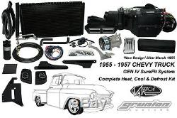 Vintage Air 1955-1957 Chevy Truck Withdeluxe Cntrls Complète Climatisation Kit